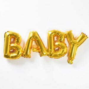 Baby Gold Foil Phrase Balloon