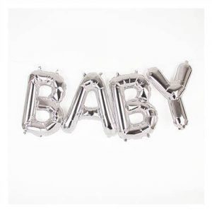 Baby Silver Foil Phrase Balloon