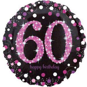 60 Sparkling Birthday Black Pink
