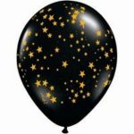 Stars Around Onyx Black With Gold